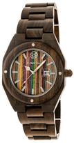 Earth Wood Cypress Skateboard Dial Bracelet Watch, 45mm wide