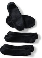 Lands' End Women's Seamless Ballet No-show Socks (3-pack)-Brown