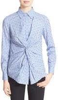 Derek Lam 10 Crosby Twist Front Button Down Shirt