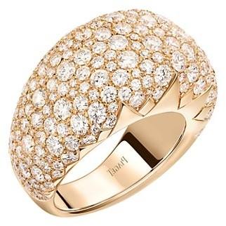 Piaget Sunlight 18K Rose Gold & Pave Diamond Ring
