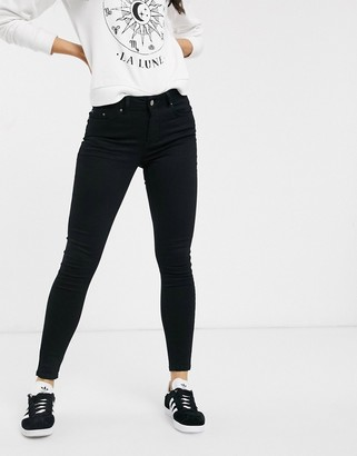 Pieces Delly high waisted skinny jeans