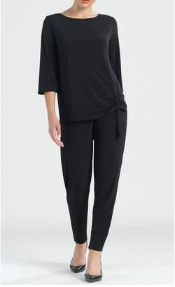 Clara Sunwoo Solid knit top w/ faux pull-tie detail