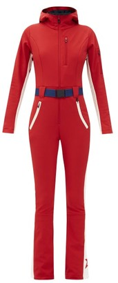 Perfect Moment Gt Side-stripe Soft-shell Ski Suit - Red