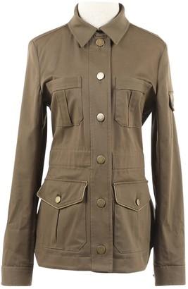 Veronica Beard Khaki Cotton Jackets