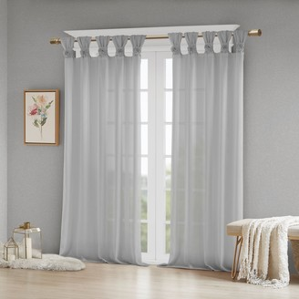 Madison Home USA Embellished Floral Window Curtain