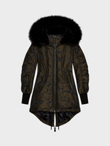 DKNY Jacquard Twill Puffer With Drawcord