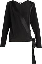 Diane von Furstenberg Crossover silk blouse