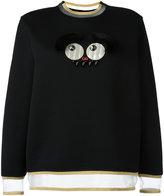 Fendi faces jumper - women - Silk/Cotton/Rabbit Fur/Acetate - 40