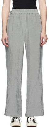 Acne Studios Grey Crinkled Fluid Trousers
