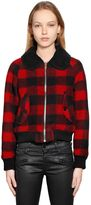 Diesel Check Boiled Wool Jacquard Jacket