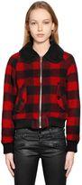 Diesel Check Boiled Wool Jacquard Jacket