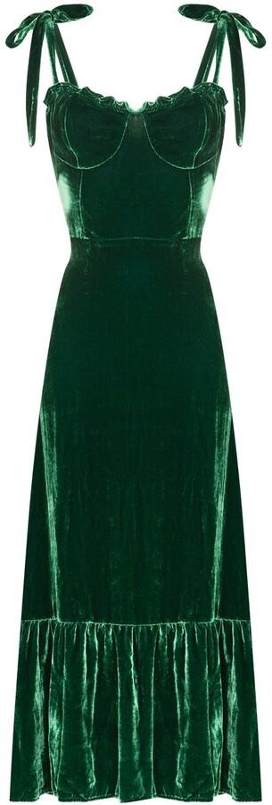 Reformation Antoinette sweetheart neck midi dress