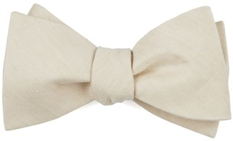 Tie Bar Linen Row Light Champagne Bow Tie