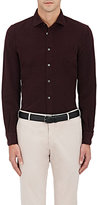 Boglioli Men's Cotton Corduroy Dress Shirt-BURGUNDY
