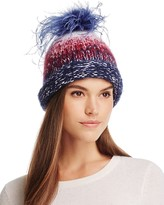 Eugenia Kim Tallulah Beanie with Ostrich Feather Pom-Pom
