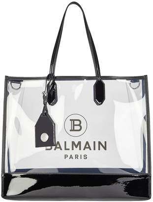Balmain Medium Logo PVC Shopper