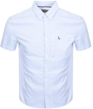Jack Wills Stableton Short Sleeved Shirt Blue