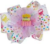 Wee Ones Birthday Bow Bundle - Birthday Print/Shocking Pink-Medium