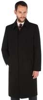 Jeff Banks Black Wool Blend With Cashmere Overcoat