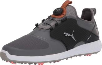 Puma Men's Ignite Pwradapt Caged Disc Golf Shoe White Silver-Peacoat Numeric_10_Point_5