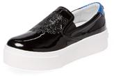 Kenzo Patent Leather Platform Slip-On Sneaker