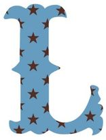 "Wall Candy Arts WallCandy Arts WallCandy Luv Letters Stars Letter ""L"" Wall Decal in Blue"