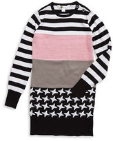 Petit Lem Girls 2-6x Mixed Pattern Knit Dress