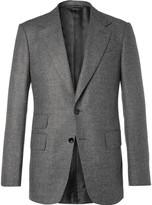 Tom Ford - Grey Shelton Mélange Wool Suit Jacket
