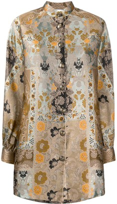 Etro Printed Blouson Coat