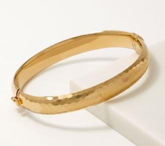 Gold One 1K Gold Diamond Cut Hinged Bangle, Average
