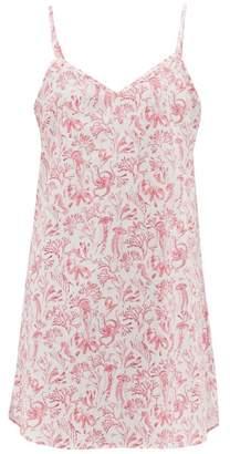 Derek Rose Ledbury Aquatic Print Cotton Nightdress - Womens - Pink