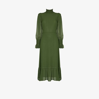 Reformation Galena High Neck Midi Dress