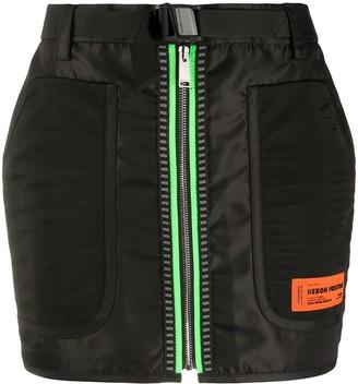 Heron Preston Neon Zip Mini Skirt