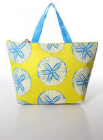 Twos Company Yellow Small Graphic Print Sand Dollar Lunch Tote NEW