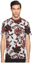 McQ by Alexander McQueen Large Floral Short Sleeve T-Shirt Men's T Shirt