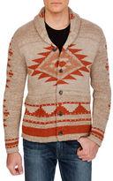 Lucky Brand Geo Print Knit Cardigan