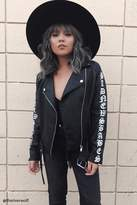 Forever 21 Graphic Moto Jacket