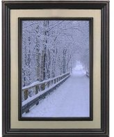 Lawrence Frames 5 by 7-Inch Oil Rubbed Bronze Picture Frame, Brushed Gold Inner Panel