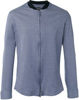 Giorgio Armani Contrast collar zip shirt - men - Cotton - 40