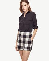 Ann Taylor Petite Gingham High Waist Shorts