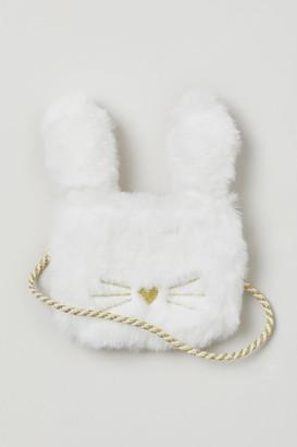H&M Faux Fur Bag - White