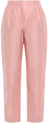 Mansur Gavriel Cropped Cotton And Silk-blend Taffeta Tapered Pants