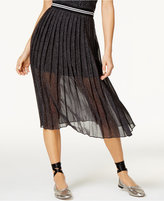 SHIFT Juniors' Printed Pleated Skirt, Only at Macy's