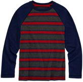 Arizona Long-Sleeve Striped Raglan Tee - Boys 8-20 and Husky