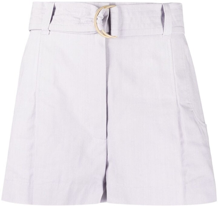 Thumbnail for your product : BA&SH Aris belted shorts