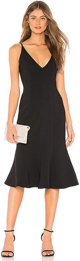 Aijek Camille Bonded Fit Flare Dress