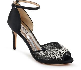 Badgley Mischka Opera Crystal Embellished Ankle Strap Sandal