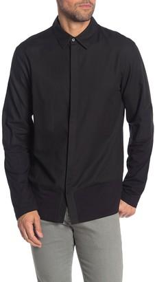 Helmut Lang Combo Knit Long Sleeve Shirt