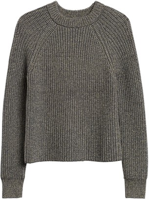 Banana Republic Petite Chunky Metallic Cropped Sweater