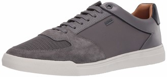 HUGO BOSS Green Men's Leather Small Logo Sneaker